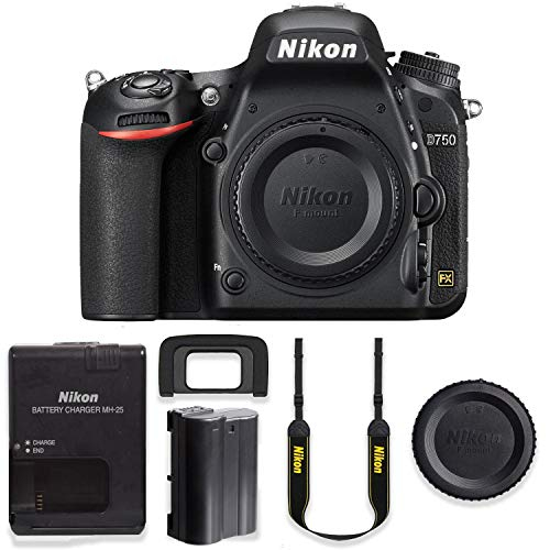 Nikon D750 24.3MP DSLR Body Only Basic Camera Kit
