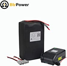 BtrPower 36V 30Ah Ebike Lithium Lifepo4 Battery Pack for 1000w Electric Bicycle Scooter with 5A Charger BMS