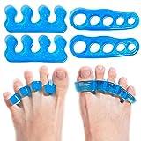 Foot Guru 2 pares de gel ortopédico día y noche Kit de yoga y deportes separador de dedos + camillas para enderezar los dedos doblados y aliviar y corregir juanetes alivio del dolor y protección