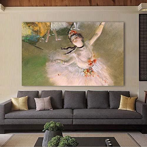 ZJMI Bild Leinwand Kunst Edgar Degas tanzende Ballerina Klassische Wand Bilder für Wohnzimmer Home Decor gedruckte Malerei 50cmx70cm