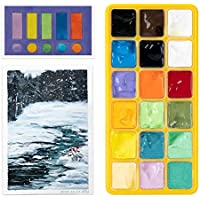18-Count Arrtx Jelly Cup Design Gouache with Palette 30ml