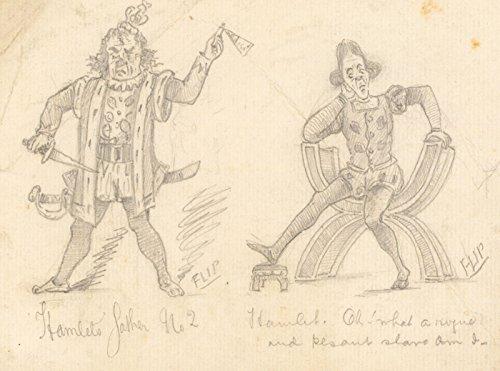 Sulis Fine Art Flip  Early 20th Century Graphite Dibujo Disfraz Diseos para Hamlet