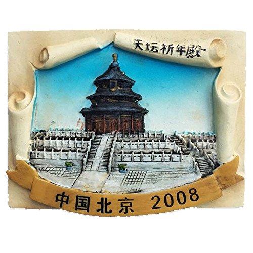 Gran Pared de la Ciudad de Pekín de la Capital China del Mundo Resina 3D Fuerte imán para Nevera Recuerdo turista Regalo Chino imán Hecho a Mano Manualidades Creativas hogar y Cocina decorac
