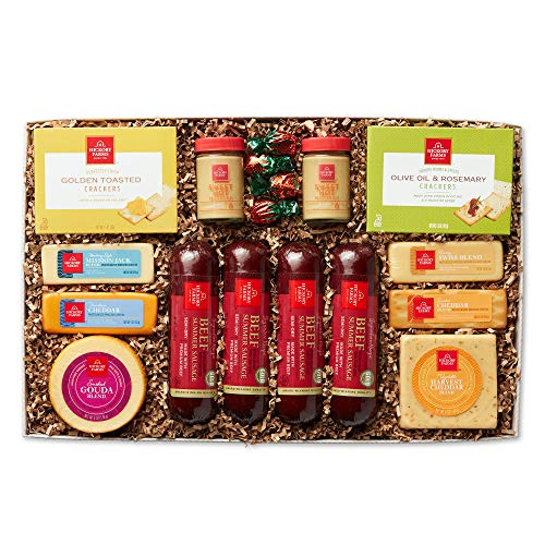 Hickory Farms Celebration Spread Sausage and Cheese Gift Box, Perfect for Thinking of You, Birthday and Care Package Gifts