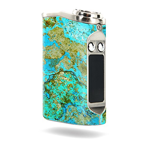 MightySkins Skin Compatible with Tesla Nano 60W TC – Teal Marble   Protective, Durable, and Unique Vinyl Decal wrap Cover   Easy to Apply, Remove, and Change Styles   Made in The USA
