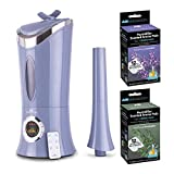 Air Innovations MH-702A Ultrasonic 1.7 Gal Cool Mist Digital Humidifier for Large Rooms, Up to 600 sq. ft with Remote Bundle (3 Items)