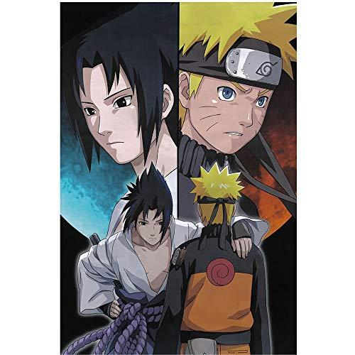 Jqchw Anime Naruto Jigsaw Puzzle 1000 piezas de madera Rompecabezas Uzumaki Naruto personaje de dibujos animados rompecabezas juego educativo juguetes de la descompresión Inicio Puzzle Challenge dific