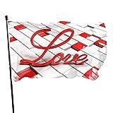 GOSMAO Bandera de 3x5 Ft Bandera Hermosa del jardín del Amor 3D Bandera Decorativa del hogar Bandera de la Patrulla disuasoria