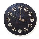 アジアン 雑貨 バリ スパイラル壁掛け時計 おしゃれ インテリア エスニック ウォールクロック 丸 円形