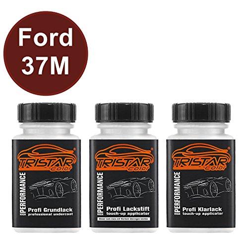 TRISTARcolor Autolack Lackstift Set für Ford 37M Copper Red Perl/Rouge Cuivre Nacre Grundlack...