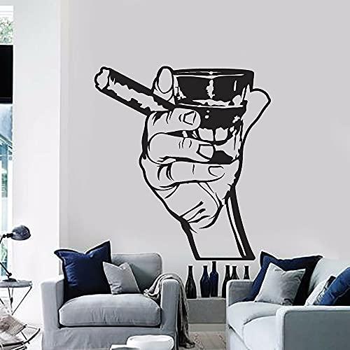 Calcomanía de pared para bar, bebida, Alcohol, barra para hombres, whisky, ron, cigarro, relajación, vinilo, pegatina de pared, decoración del hogar, pegatina de pared A8 46x42cm