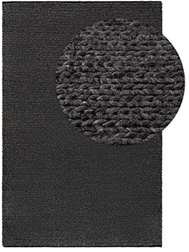 benuta NATURALS Wollteppich UNO Grau 300x400 cm - Naturfaserteppich aus Wolle