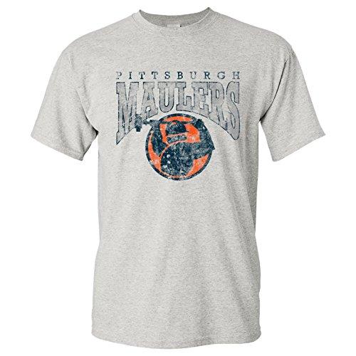 USFL Pittsburgh Maulers UGP Classics Basic Cotton T-Shirt - X-Large - Ash