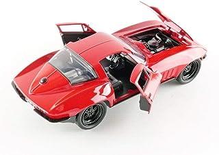 جادا تويز فاست اند فيوريس 8 داي كاست '66 سيارة شيفي كورفيت (1: 24 بمقياس).