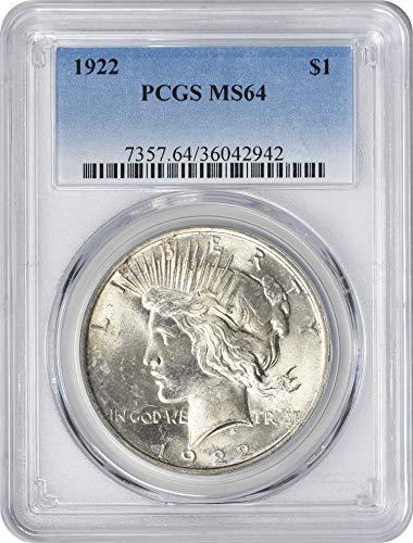 1922-P Peace Dollar MS64 PCGS