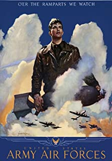 2W82 Vintage 1940's WWII United States Army Air Force Recruitment World War 2 Poster WW2 Re-Print - A2+ (610 x 432mm) 24