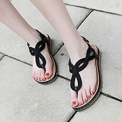 Womens Flat Sandals, Zyqzw LadyAnkle Buckles Hollow Fashion Shoes Clip Toe Sandal Slip on Slippers Flip Flops