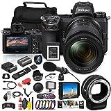 Nikon Z 6II Mirrorless Digital Camera 24.5MP with 24-70mm Lens (1663) + FTZ Mount + 4K Monitor + 64GB XQD Card + Pro Mic + Corel Software + Case + Filter Kit + More - International Model (Renewed)