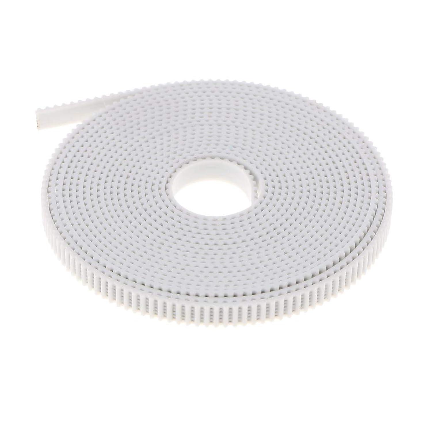 リハーサルアクセント不安3Dプリンタ用 GT2-6mm オープンタイミングベルト 強化ゴムベルト 3m/5m ホワイト - 3m