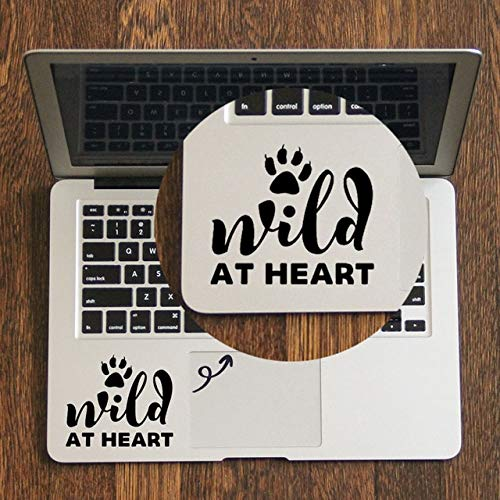 GADGETS WRAP Wild at Heart Quote Trackpad Decal for MacBook Air Pro Retina 11 12 13 15 Inch Hp Mac Surface Book Touchpad Skin Laptop Sticker