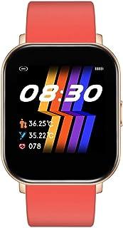 WUHUAROU Reloj Inteligente Fitness Bluetooth Reloj Inteligente Impermeable Temperatura Corporal Frecuencia cardíaca Relojes de Pantalla táctil Completa (Color : Red)