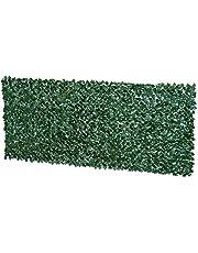 Outsunny Kunstmatige heg, inkijkbescherming voor planten, heg, gras, wanddecoratie, donkergroen, 300 x 100 cm, 300 x 150 cm