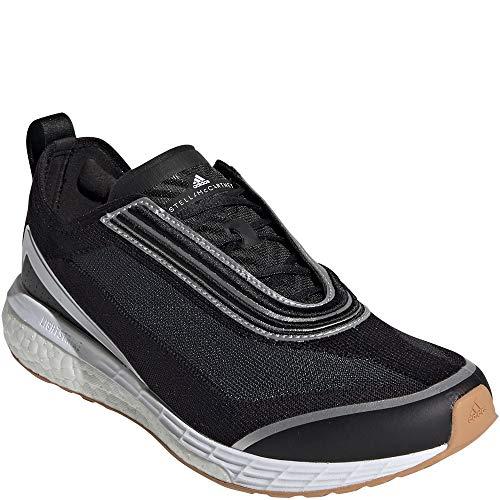adidas by Stella McCartney Women's Boston S. Sneakers, Black/Silvmt/Carboa, 8.5 Medium US …