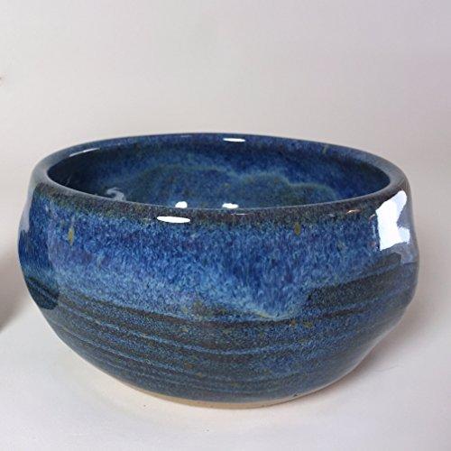 Handmade Blue Pottery Shaving Bowl for Men