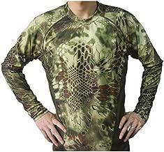 Shanghai Story Python Camo Paintball Combat Tactical Long Sleeve T-Shirt 2XL Green