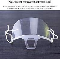 20 pezzi trasparente aperta, mezza faccia in plastica trasparente elastica comoda protezione per la bocca indossabile, di sicurezza riutilizzabile (10PC) #3