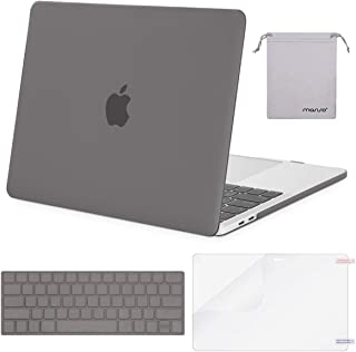 MOSISO MacBook Pro 13 inch Case 2019 2018 2017 2016 Release A2159 A1989 A1706 A1708, Plastic Hard Shell &Keyboard Cover &Screen Protector &Storage Bag Compatible with MacBook Pro 13, Gray