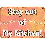 白い桜雑貨屋 看板 コカ 通販 レトロ ブリキ Stay Out My Kitchen! 壁飾 アンティーク メタル レトロ 看板 販売(20x30cm)