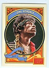 Jimi Hendrix trading card (Rock Star Guitar Hero) 2014 Panini Golden Age #105