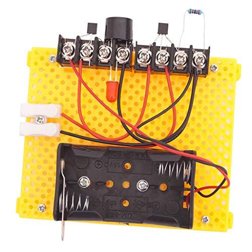 PETSOLA 1 Set Rain Alam Kits de Bricolaje Ciencia de Aprendizaje - Alarma de Lluvia