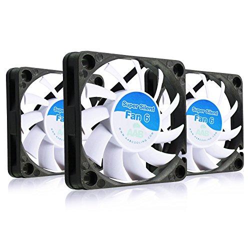AABCOOLING Super Silent Fan 6 - Un Silencioso y Muy Efectivo Ventilador 60mm para Impresora 3D, Ventilador PC, Ventilador Laptop 6cm, Fan Cooler, 34m3/h, 2500 RPM - 3 Piezas 17,3 dB(A)