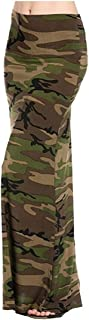 Women's Poly Span Multiple Selection Print Maxi Skirt-Made in USA