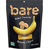 Bare Baked Crunchy Banana Chips, Simply, Gluten Free, 2.7 Ounce, Pack of 6...