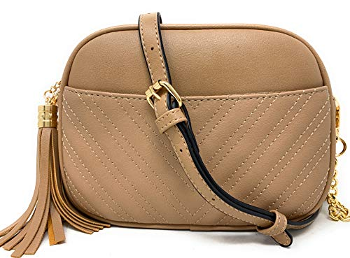 GET 3 BAGS IN 1 - There is no need to change purses when you can simply remove the strap. Go from a cross body bag to an over shoulder purse to a clutch. One bag, 3 looks! ROOMY WITH 2 POCKETS - The purse is 8.5 x 6 x 2 inches - big enough to carry e...