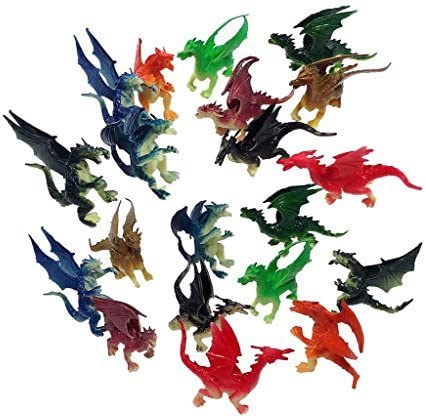 2.5 inches to 3 Plastic 20 Pieces Spring new work one after another - Max 64% OFF Mini Dragons