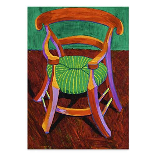 baiyinlongshop Nordic Vincent's Stuhl Und Pipre Gauguin'S Stuhl Leinwanddruck Malerei Poster Wandkunst Wandbilder Für Wohnzimmer Wohnkultur 50 × 70Cm No Frame