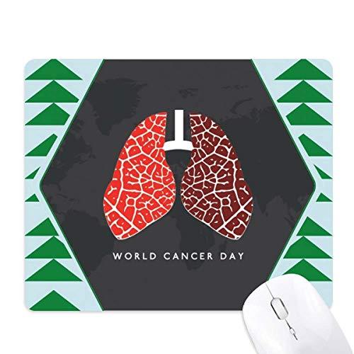 schéma de poumon cancer journée mondiale du logo tapis de souris green pine tree tapis en caoutchouc