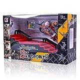Boshu Finger Skateboard ramp Tuning, Skatepark Fingerboard Skateboard ramp Manufacturing.Mini Finger Toy Skateboard Skate Park Ramp Kit, Ultimate Parks Training Props