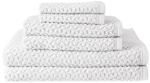 Price comparison product image Hardwick 6 Piece Turkish Cotton Luxury Towel Set - Thick and Absorbent Sculpted Jacquard Towel Set Made with 100% Turkish Cotton