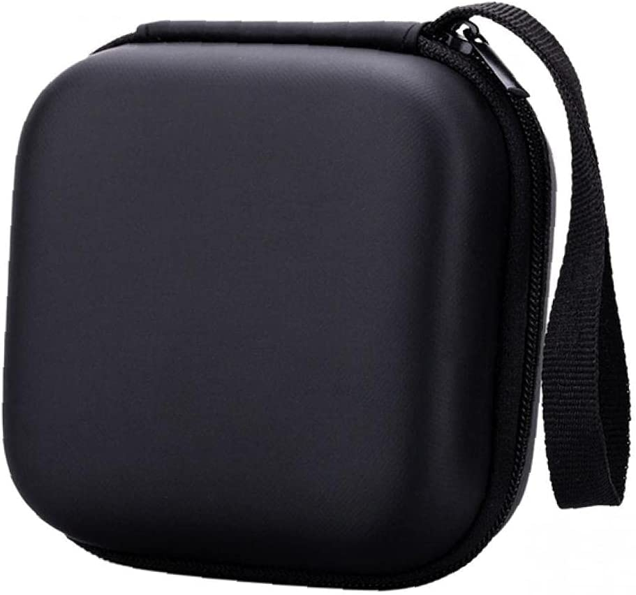 Travel Data Cable Storage Bag Electronic Accessories Storage Digital USB Gadget Bag with Zipper Data Cable Charger Plug Memory Card Mobile Power Supply (Black)