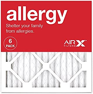 AIRx ALLERGY 14x14x1 MERV 11 Pleated Air Filter – Made in the USA – Box of 6