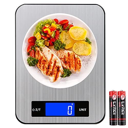 bilancia da cucina 10kg alta precisione YYQ Bilancia da Cucina Elettronica Digitale 10Kg/1g Alta Precisione Acciaio Inossidabile + Vetro Temperato