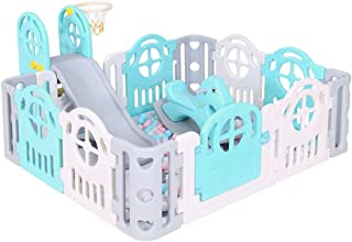 Xuan Yuan Safety Fence, Baby Fence Children's Play Fence Slide Home Baby Indoor Crawling Mat Toddler Baby Play Fence (Color : B)