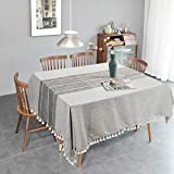 YORKING Cotton Linen Table Cloth...