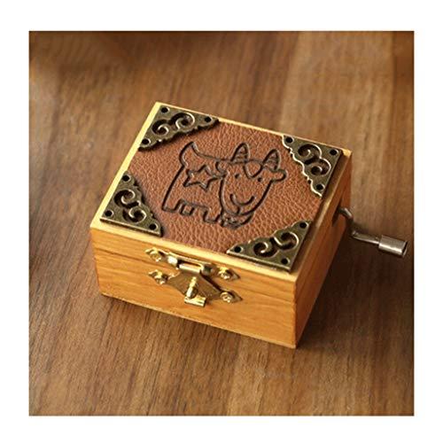 HJHJ Kreative Spieluhr Constellation Retro Handkurbel Musical Box Holzmechanismus Musical Box for Geburtstagsgeschenk, erwachsenes Kind spieluhr Geschenk