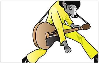Indoor Floor Rug/Mat (23.6 x 15.7 Inch) - Elvis Presley Dog Guitar Mutt Rocker Star Riff